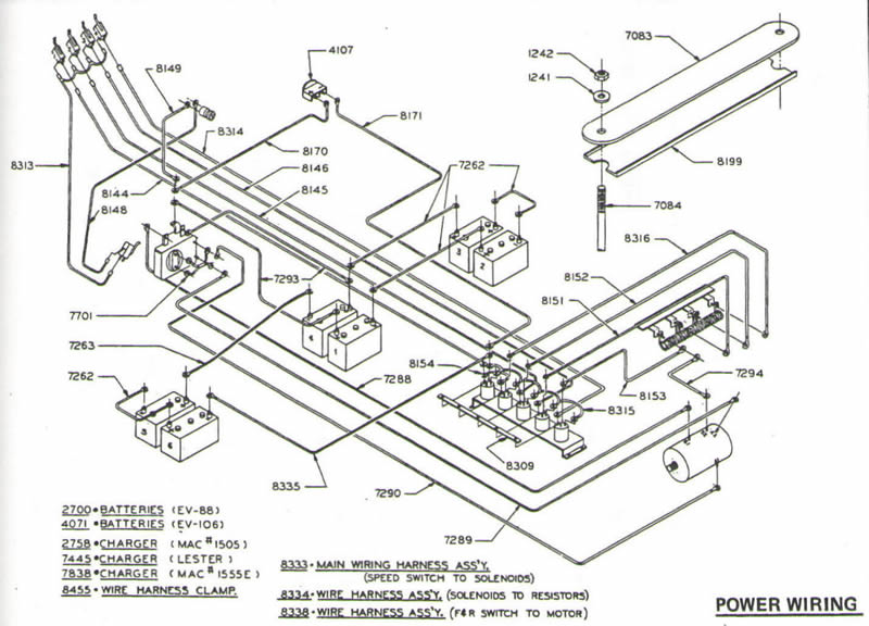 1986 club car ez go 36v wiring diagram club car schematics  club car schematics